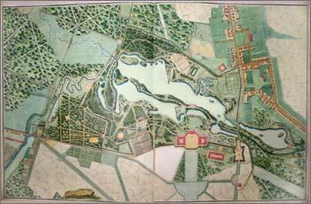 Оригинал взят у o_kleschevich в Мой самый любимый Лабиринт:-) План Гатчинского парка.  Кушелевский альбом.