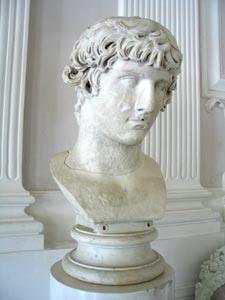 Гатчинский дворец. Белый зал. Бюст «Антиной»