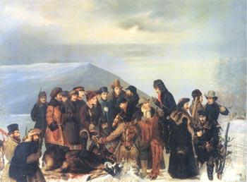 Н.Е. Сверчков. Охота на лося