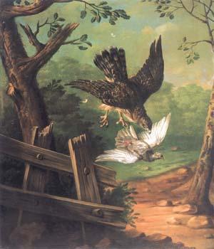 И.Ф. Гроот. Сокол и голубь