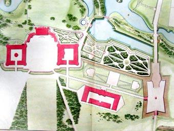 План Дворцу и близ оного Садам